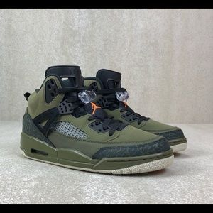 New Jordan Spizike Olive Green Canvas Cone Black